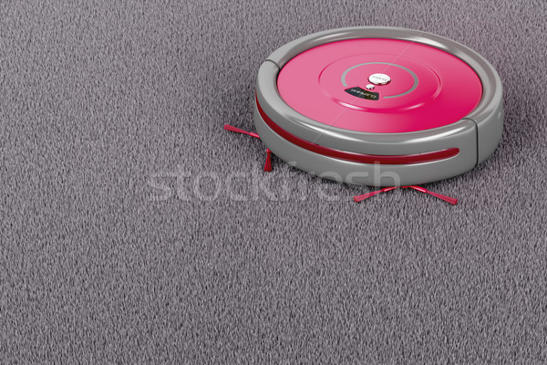 Robot vacuum cleaner on the carpet Stock photo © magraphics
