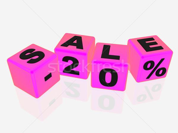 販売 20 ピンク キューブ にログイン ショップ ストックフォト © magraphics