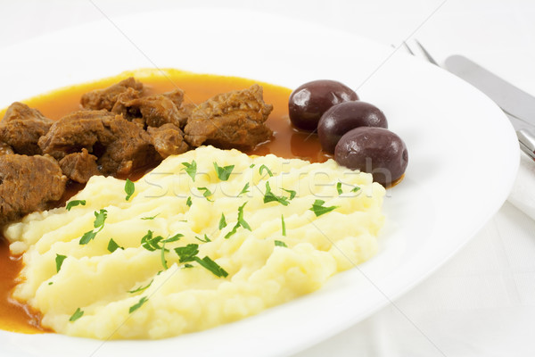 Delicious meal - goulash Stock photo © magraphics