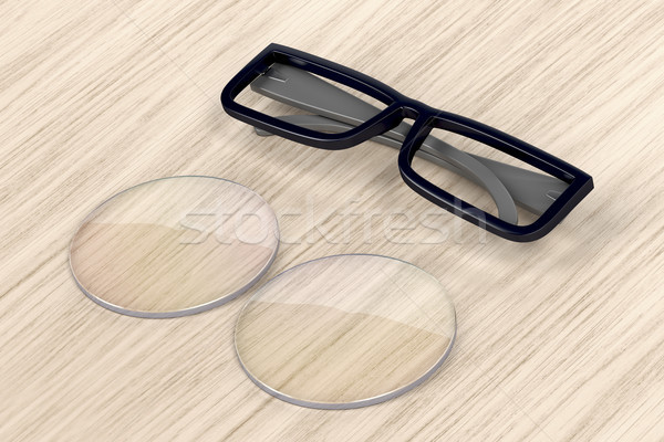 Eyeglasses frame and lens Stock photo © magraphics