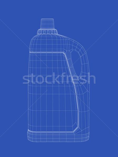 Sıvı deterjan şişe 3D tel kafes model Stok fotoğraf © magraphics