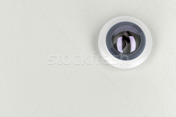 CCTV camera on white ceiling  Stock photo © magraphics