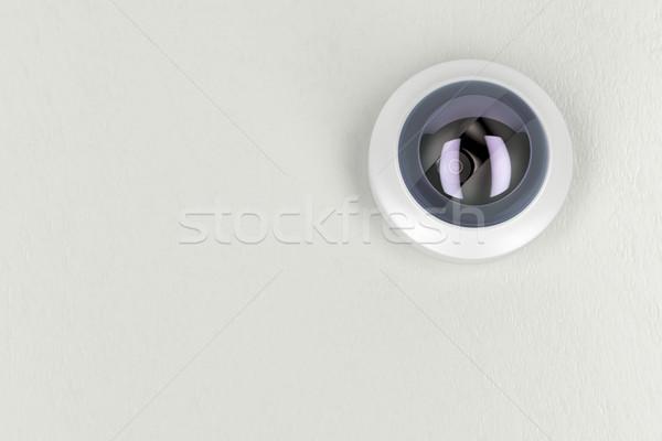 Cctv camera witte plafond bodem Stockfoto © magraphics