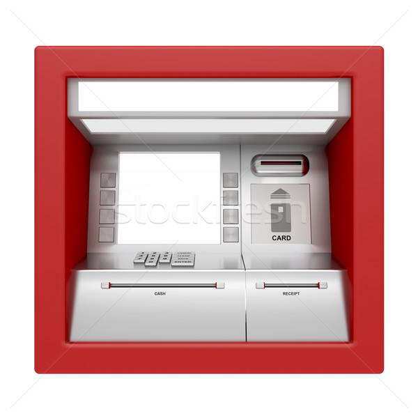 ATM machine isolated on white Stock photo © magraphics