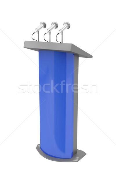 Izolált fehér mikrofon hangszóró előadás beszéd Stock fotó © magraphics
