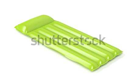 Verde piscina colchón blanco agua Foto stock © magraphics