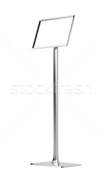 Blank info stand Stock photo © magraphics