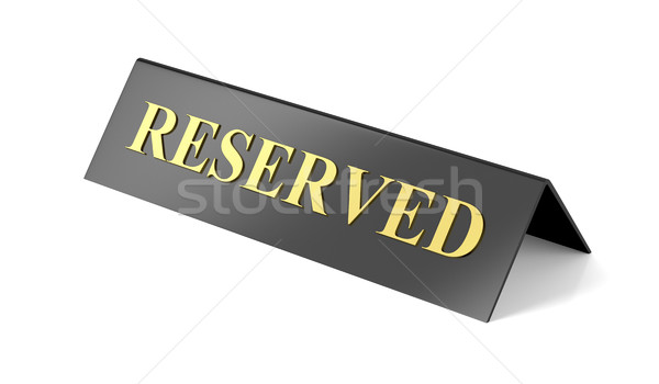 Reserved sign Stock photo © magraphics