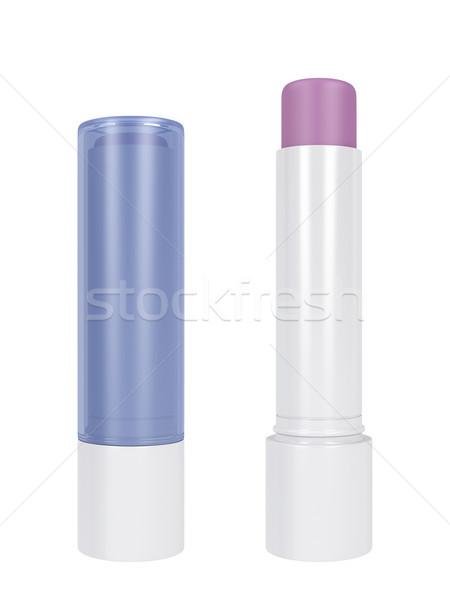 Ajak balzsam izolált fehér szépség száj Stock fotó © magraphics