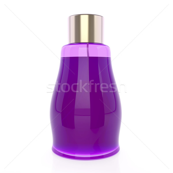 Roxo perfume garrafa branco feminino senhora Foto stock © magraphics