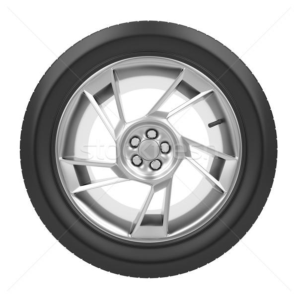車 ホイール 孤立した 白 鋼 自動 ストックフォト © magraphics