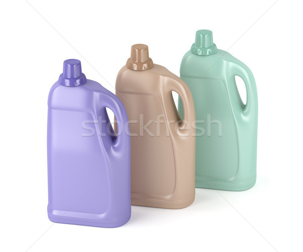 Liquid detergent bottles on white Stock photo © magraphics