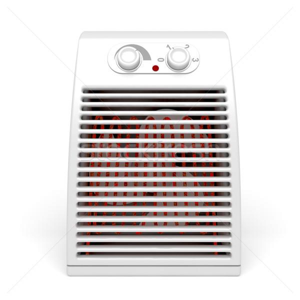 Elétrico aquecedor branco tecnologia isolado equipamento Foto stock © magraphics