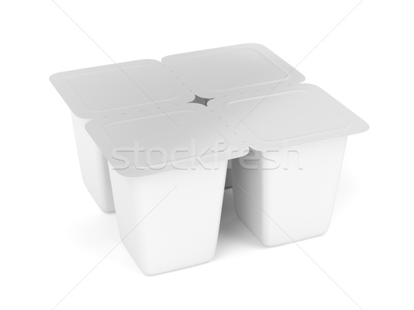 Four pack plastic containers  Stock photo © magraphics