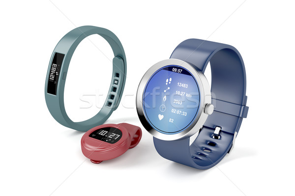 Different types of activity trackers  Stock photo © magraphics