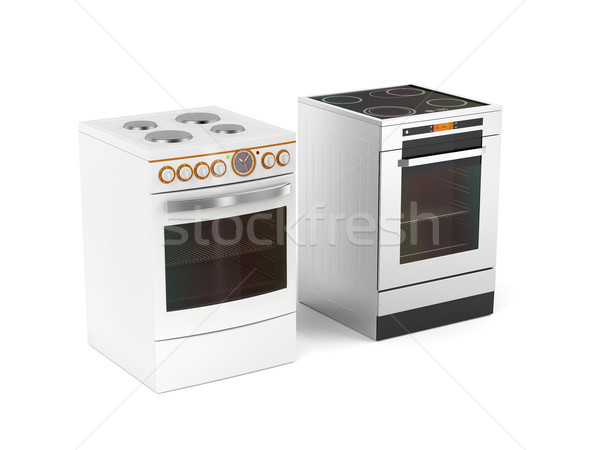 Two electric stoves Stock photo © magraphics