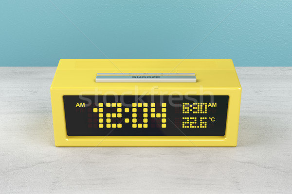 Yellow alarm clock Stock photo © magraphics
