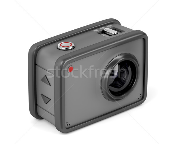 Action camera on white Stock photo © magraphics