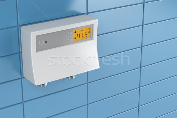 Stock photo: Tankless water heater