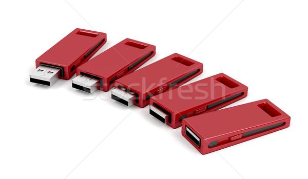 Deslizar usb flash computador tecnologia chave Foto stock © magraphics