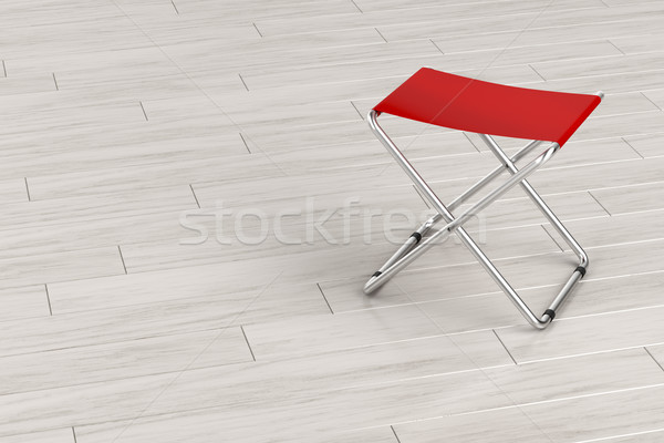 Folding stool on wooden floor Stock photo © magraphics