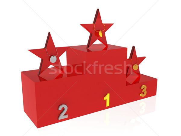 Winner podium Stock photo © magraphics