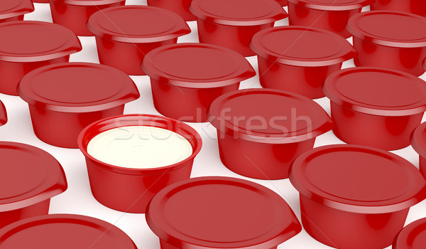 Multiple rows of plastic containers Stock photo © magraphics