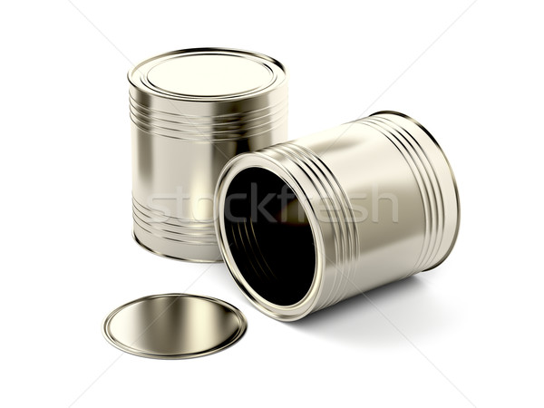 Two tin cans Stock photo © magraphics