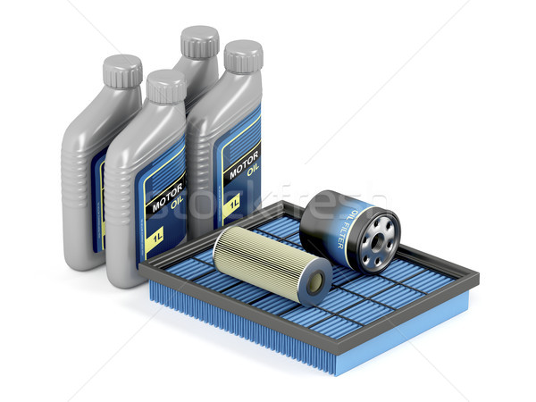Car filters and motor oil Stock photo © magraphics