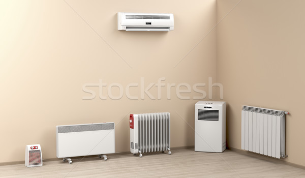 Electric heaters in the room Stock photo © magraphics