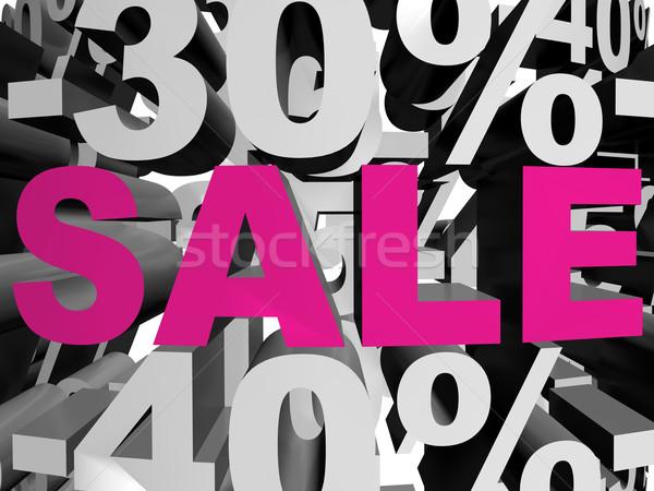 Vendita magenta 3D reso immagine parola Foto d'archivio © magraphics