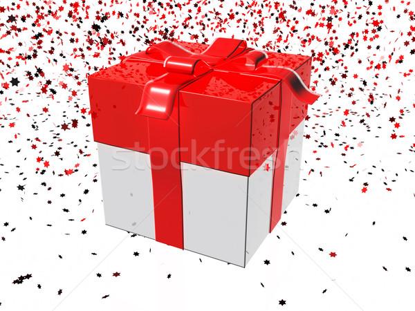 ギフトボックス 赤 白 歳の誕生日 ショッピング ストックフォト © magraphics