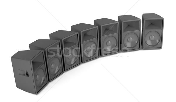ораторов набор мощный этап белый Сток-фото © magraphics