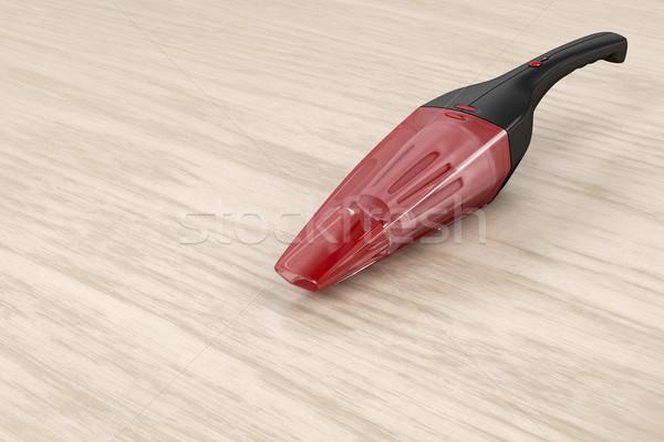 Hordozható porszívó fa asztal kéz fa elektromos Stock fotó © magraphics