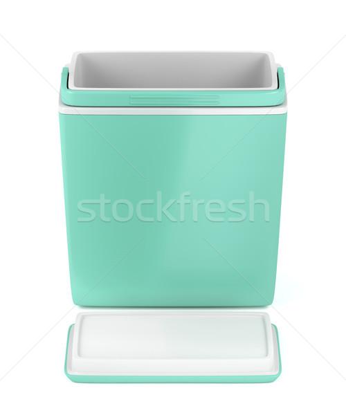 Empty handheld refrigerator Stock photo © magraphics