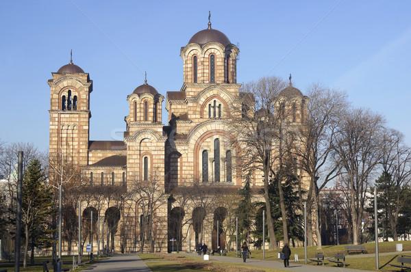 église Belgrade Serbie bâtiment banc temple Photo stock © magraphics