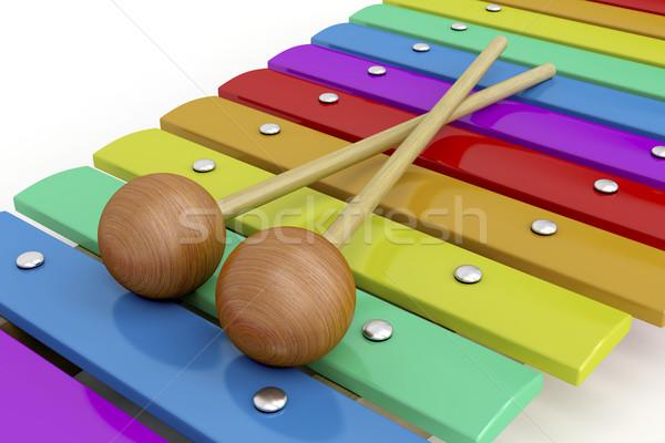 カラフル 木製 木琴 クローズアップ 画像 音楽 ストックフォト © magraphics