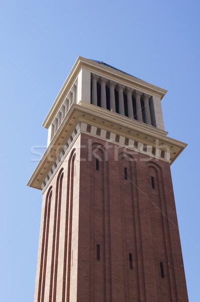 Veneziano torre piazza Barcellona architettura Foto d'archivio © magraphics