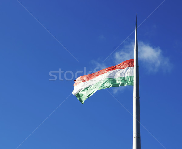 Hungarian flag on the mast Stock photo © magraphics