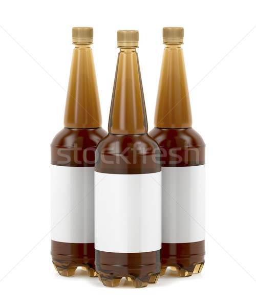 Big beer bottles with blank labels Stock photo © magraphics