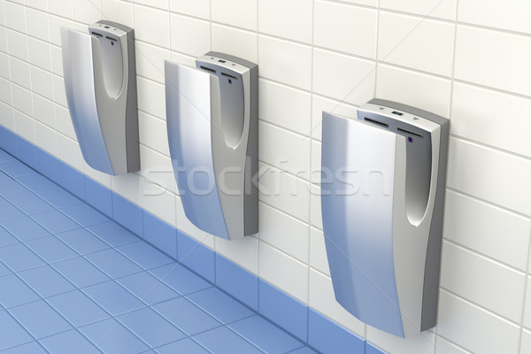 Hand dryers in public washroom Stock photo © magraphics