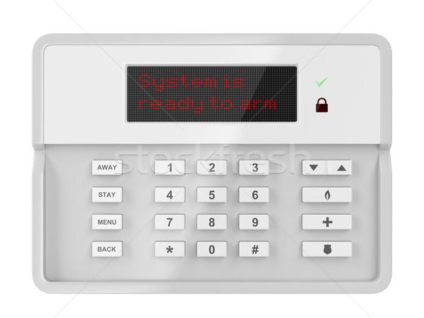 тревогу панель управления изолированный белый дома домой Сток-фото © magraphics