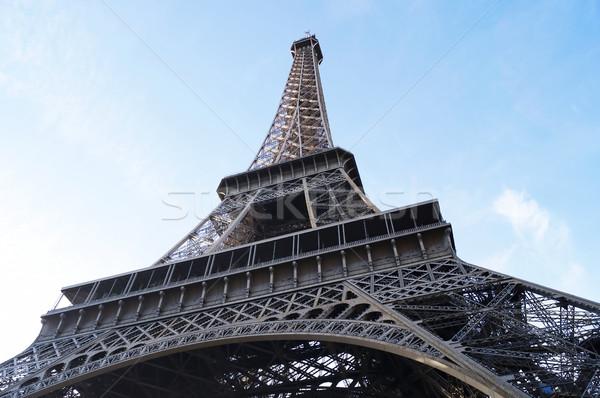 Eiffel-torony fő- tájékozódási pont Párizs Franciaország építészet Stock fotó © magraphics