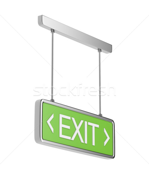 Exit sign on white background  Stock photo © magraphics