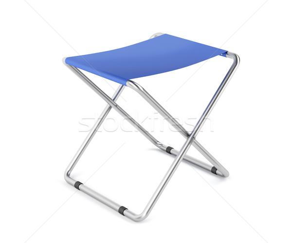 Kék zsámoly fehér utazás szék bútor Stock fotó © magraphics