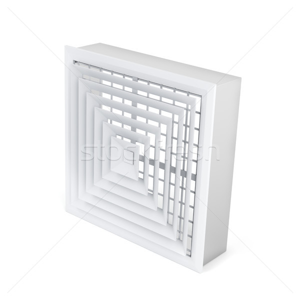 Air vent cover in square shape Stock photo © magraphics