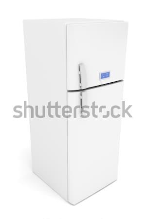 Modernes frigo 3D image blanche porte Photo stock © magraphics