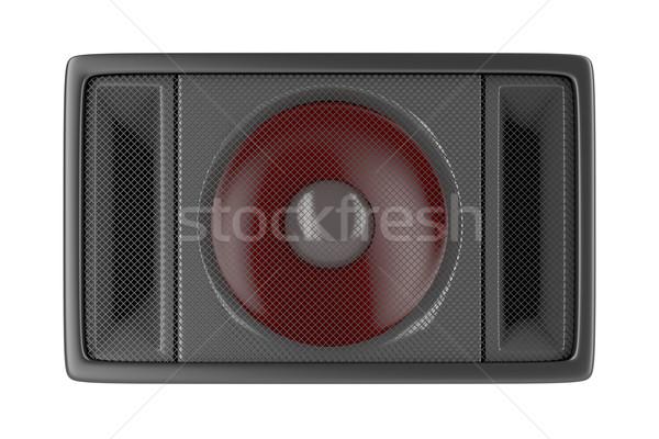 Altavoz aislado blanco frente vista música Foto stock © magraphics