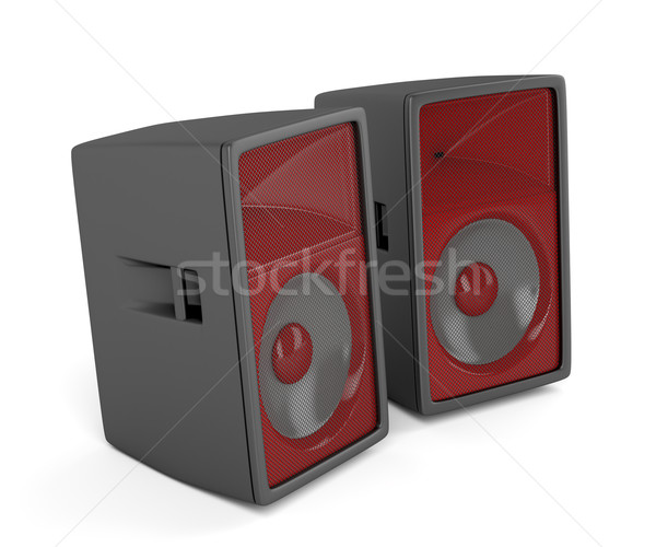 Stage loudspeakers on white  Stock photo © magraphics