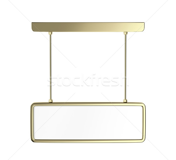 Blank golden info panel Stock photo © magraphics